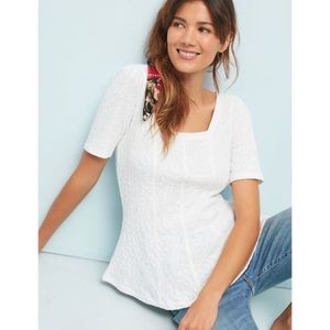 Anthropologie nwt ett:twa wesley white top large